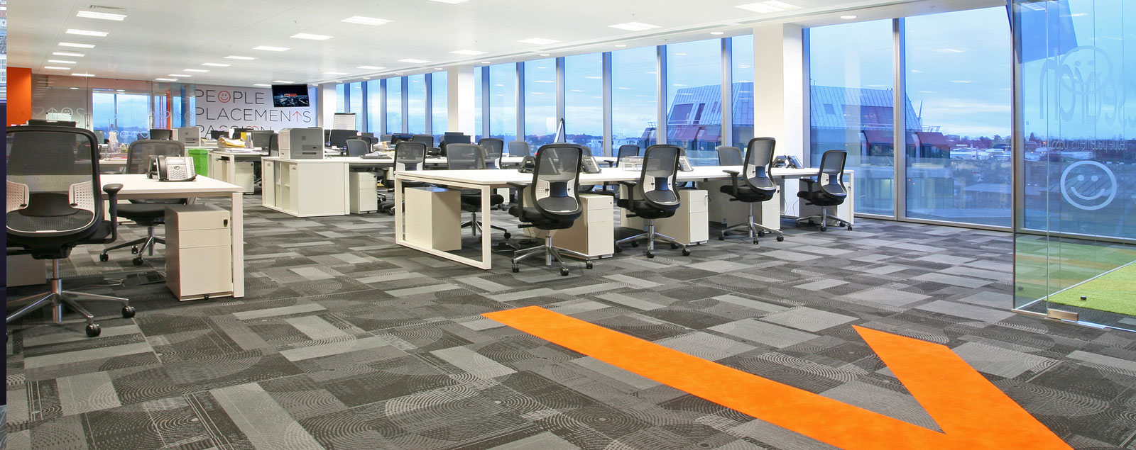 Interior shot of office  that Metrix Interiors designed